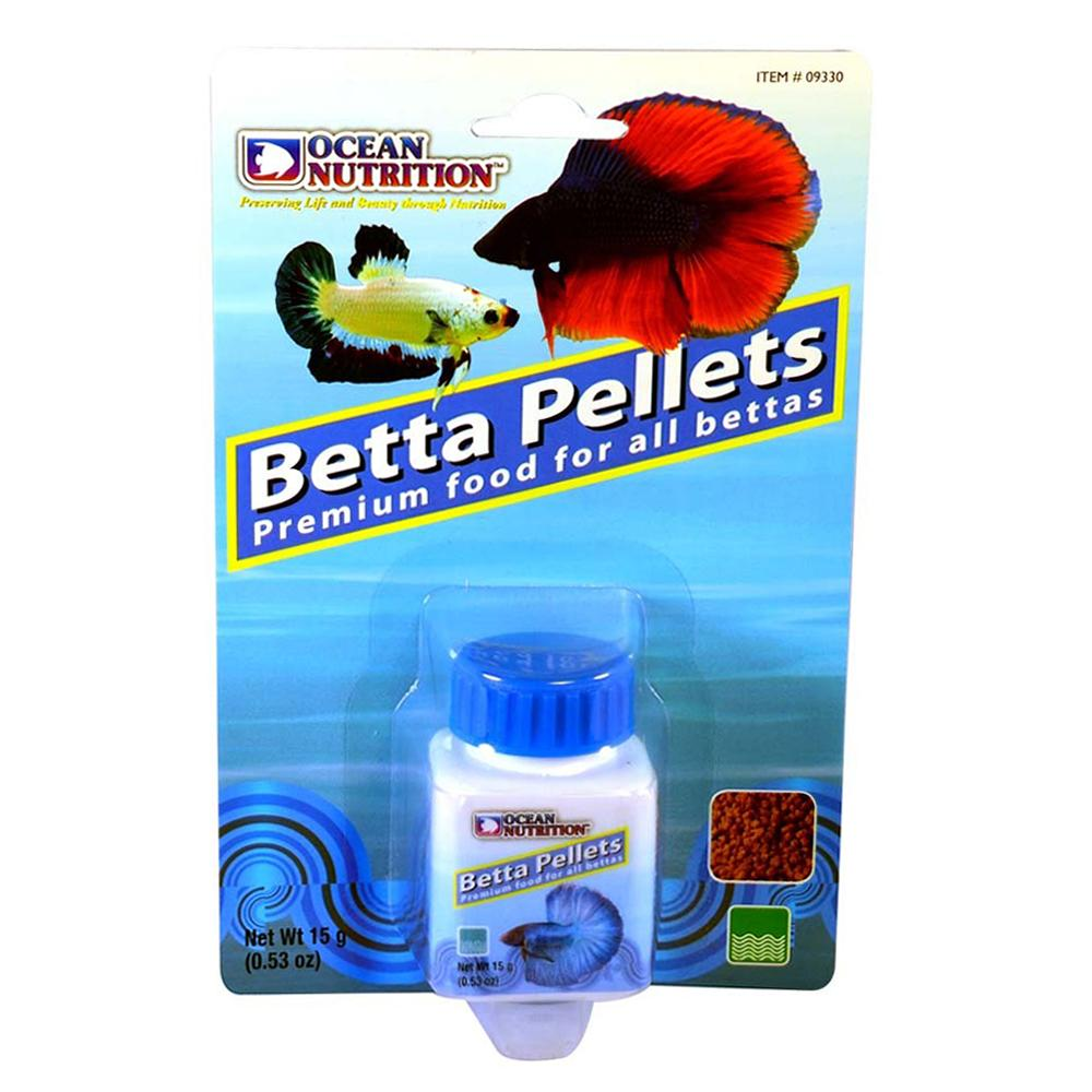 Ocean nutrition betta pellet 15 gram aquar food betta at for Betta fish pellets