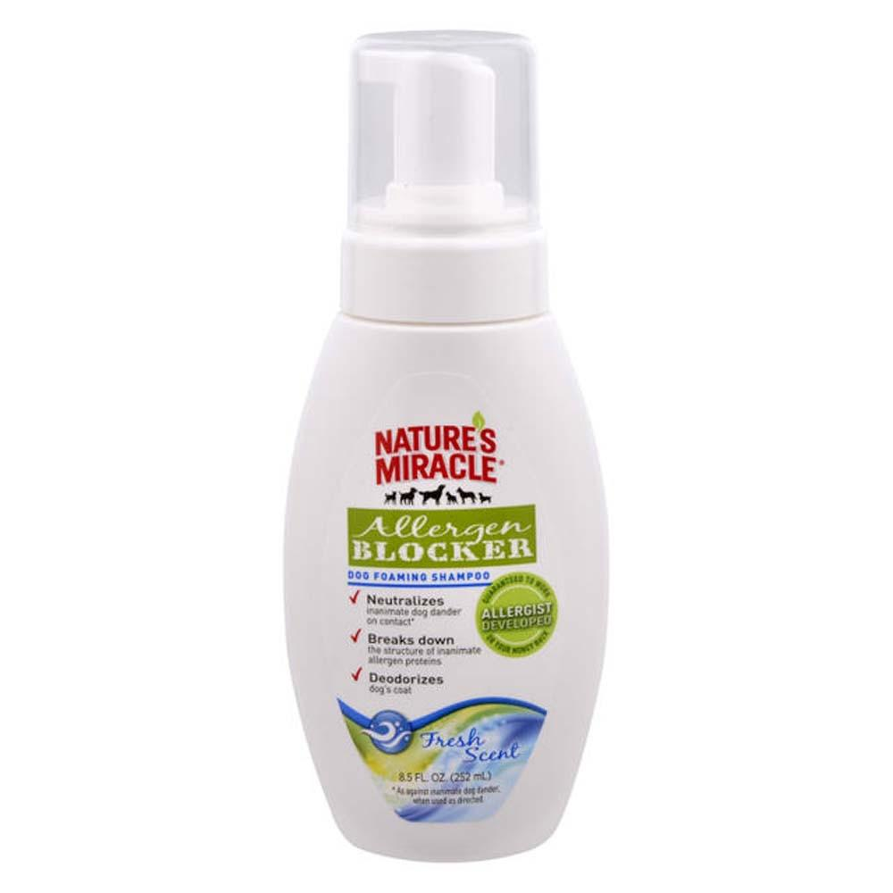 Nature's Miracle Allergy Blocking Foaming Dog Shampoo 8.5oz