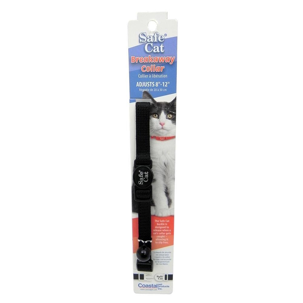 Nylon Cat Collar Breakaway Black