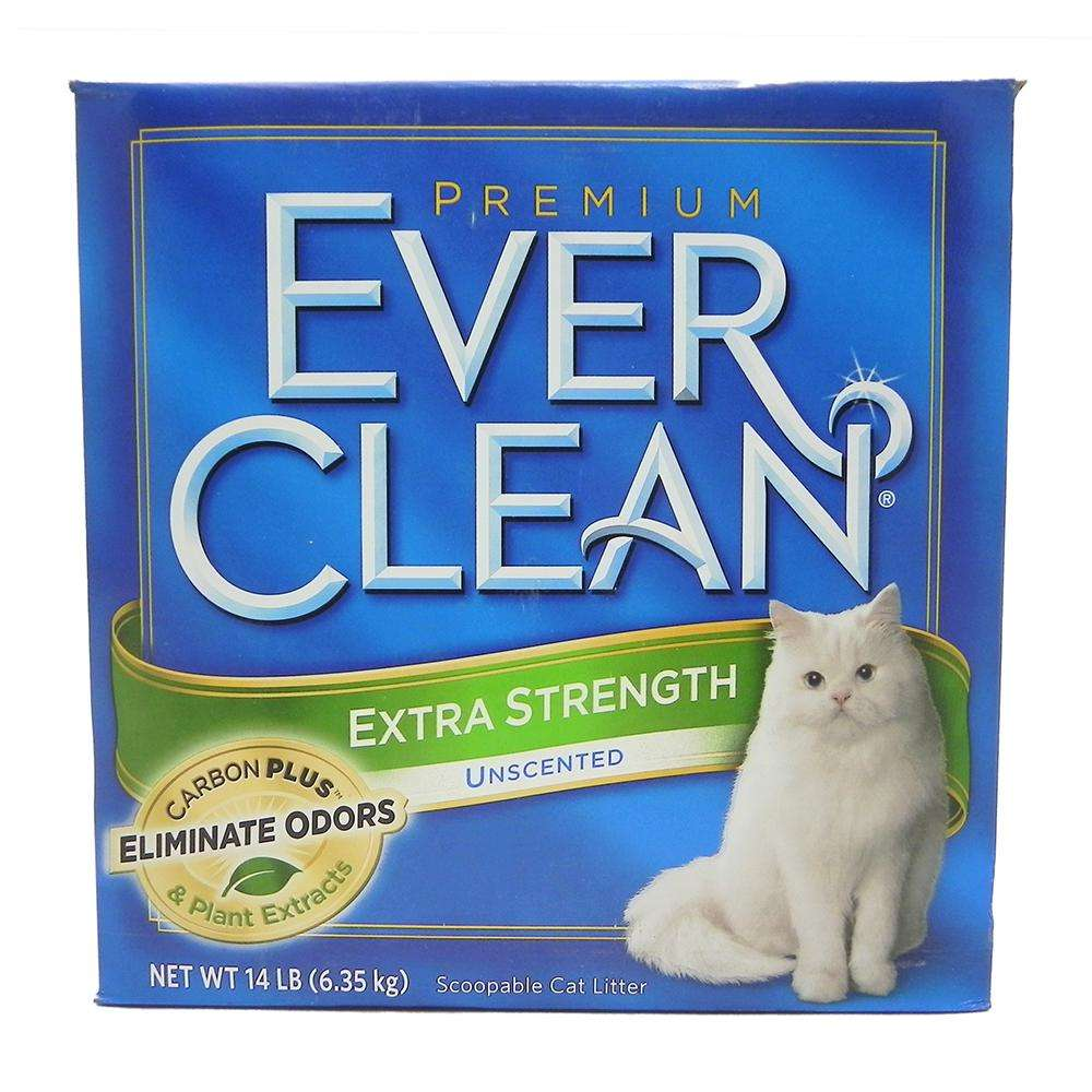 Ever Clean Unscented Extra Strength Cat Litter ES 14 lbs