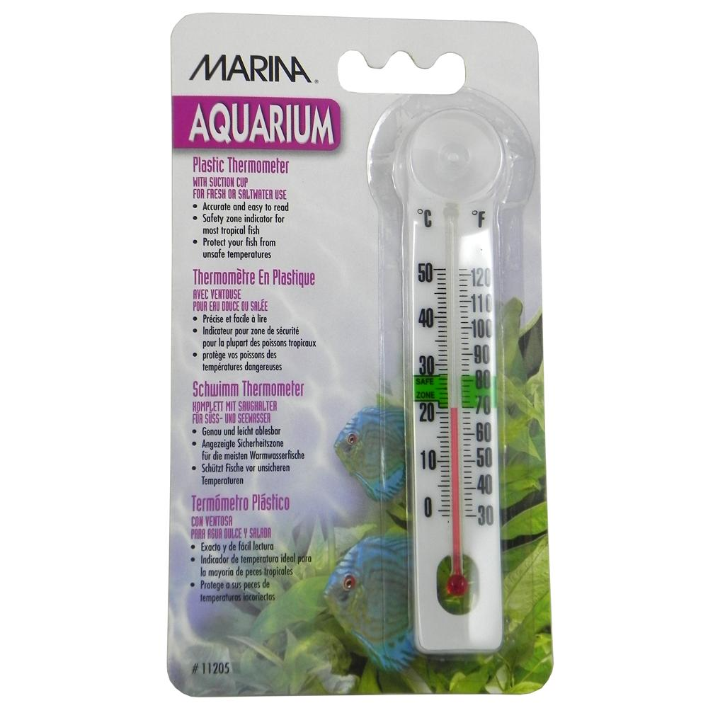 Marina plastic aquarium thermometer aquar thermometers for Aquarium thermometer