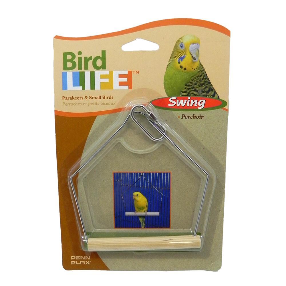 Penn Plax Swing Wood 4 inch Bird Toy