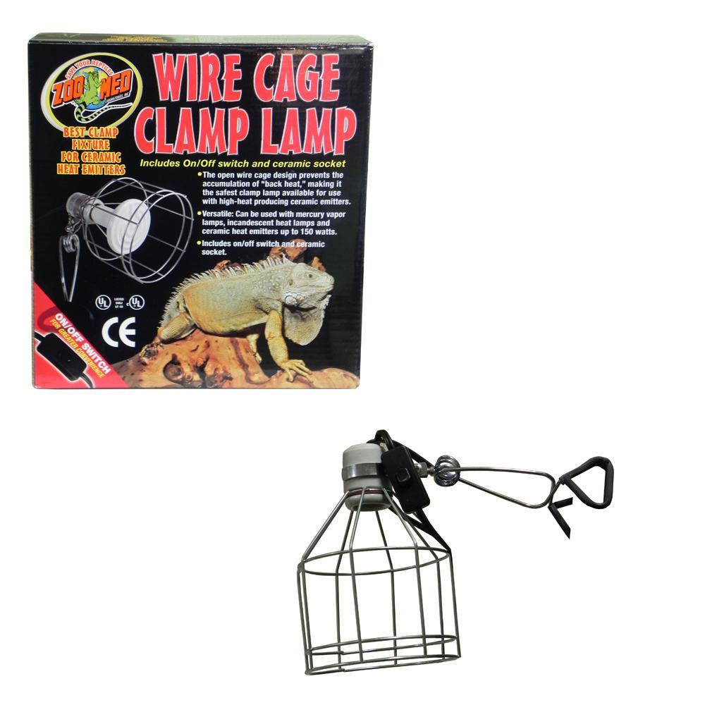 Reptile Porcelain Clamp Lamp Fixture