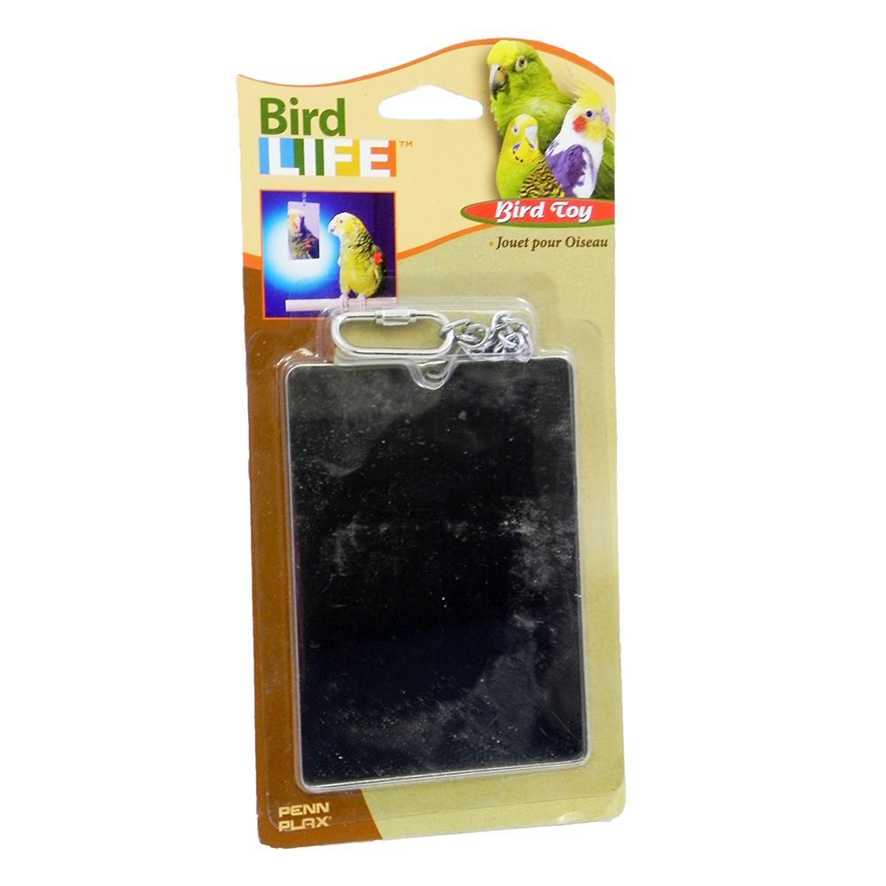 Penn Plax Steel Mirror Large Bird Toy