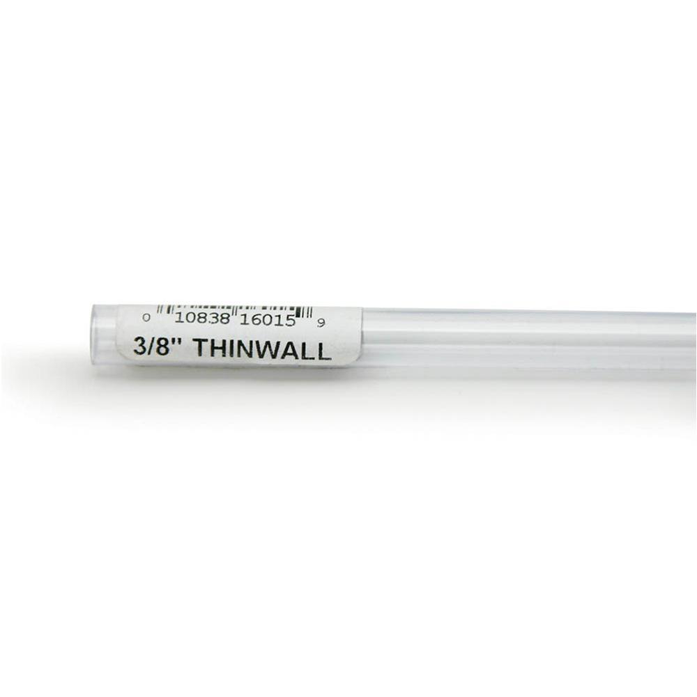 Rigid Plastic Tubing 3/8-inch outer diameter, 3 foot length