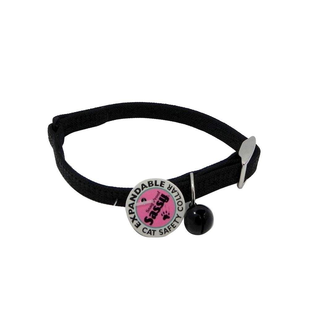 Sassy Cat Safety Collar 12-inch Black