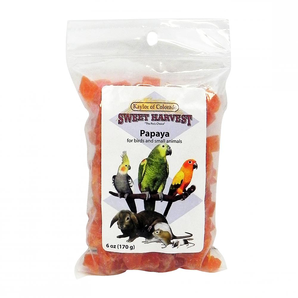 Sweet Harvest Papaya 6 ounce for Birds and Small Animals