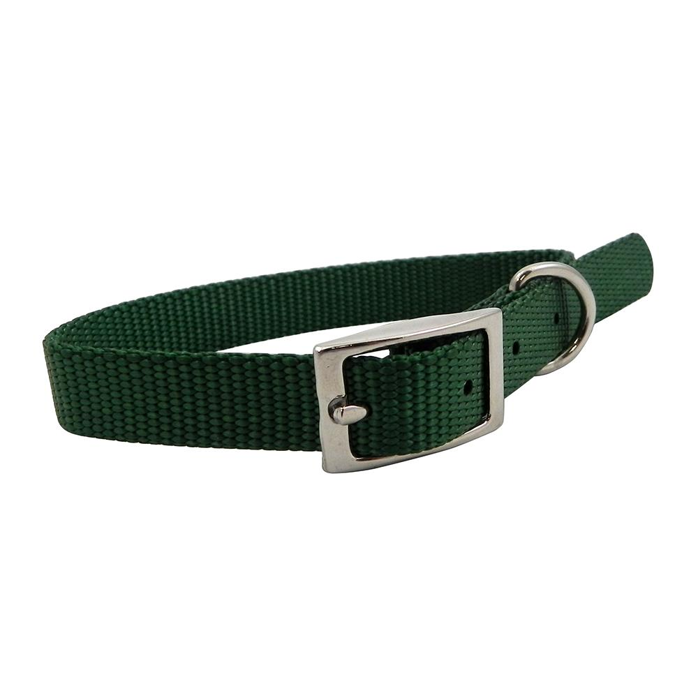 Nylon Dog Collar 5/8 inch Green 14-inch