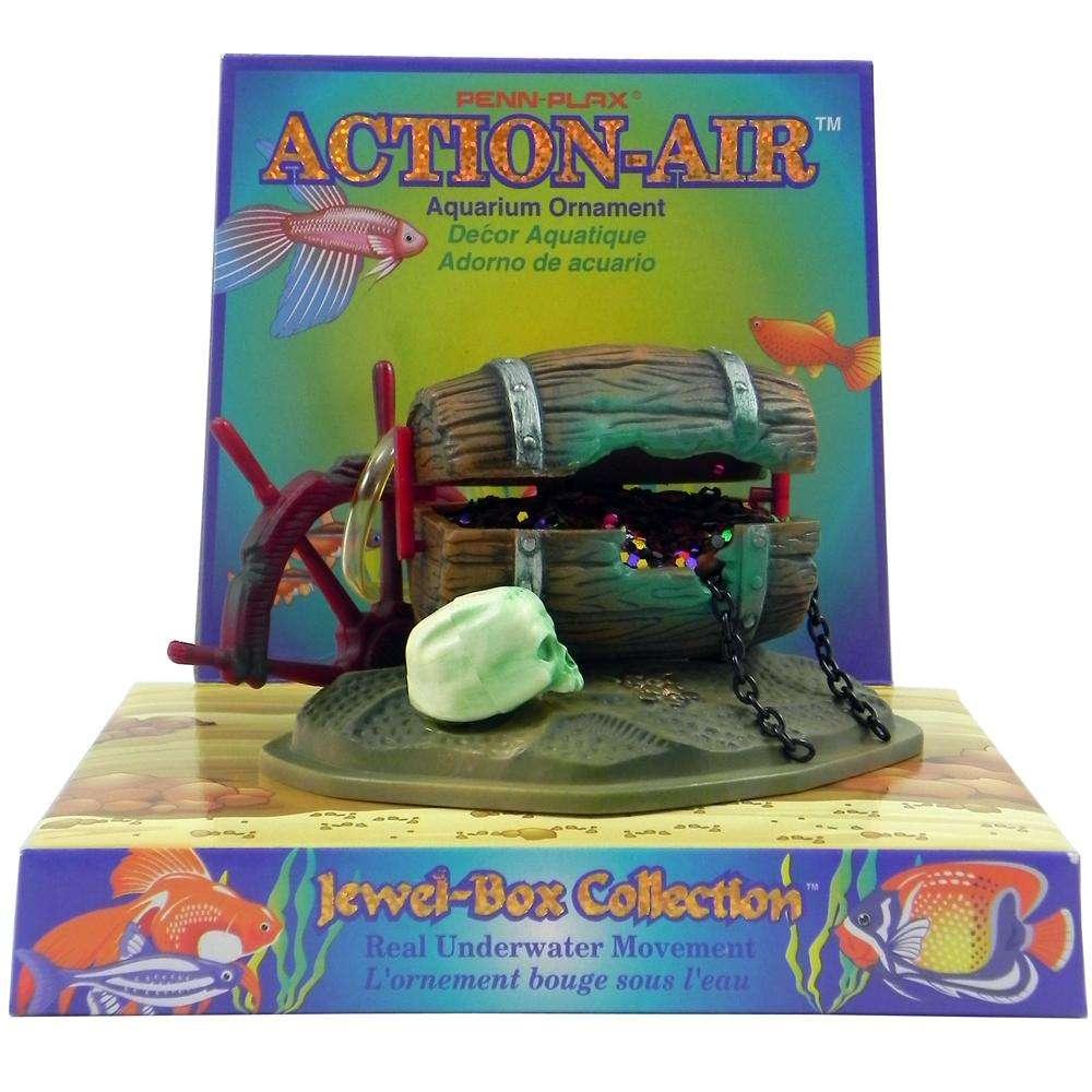 Penn Plax Action Barrel W/Jewels Aquarium Ornament