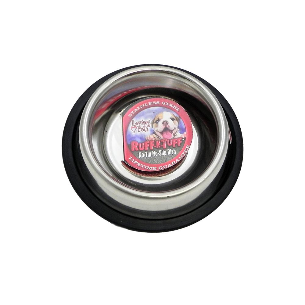 Steel Dog Bowl Non Skid 8 ounce