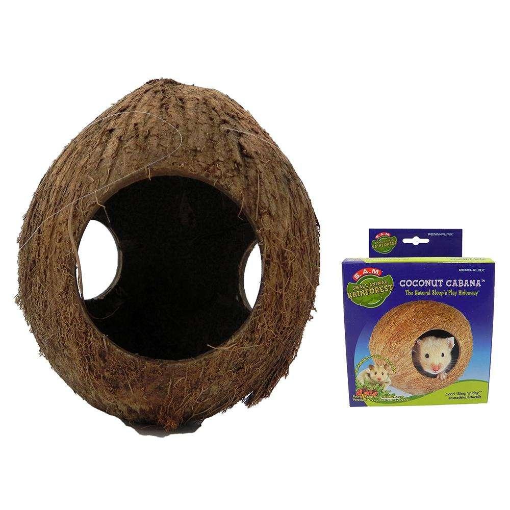 Penn Plax Coconut Cabana Small Animal Play Nest