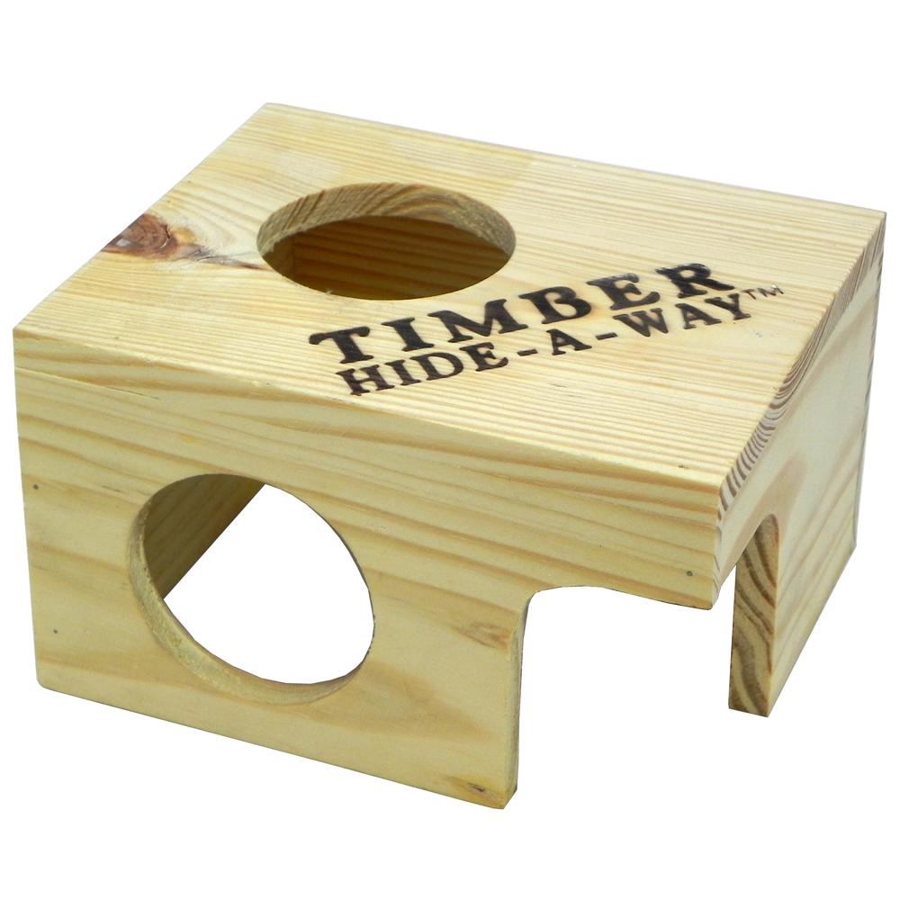 Penn Plax Small Animal Timber Hide-a-Way Small