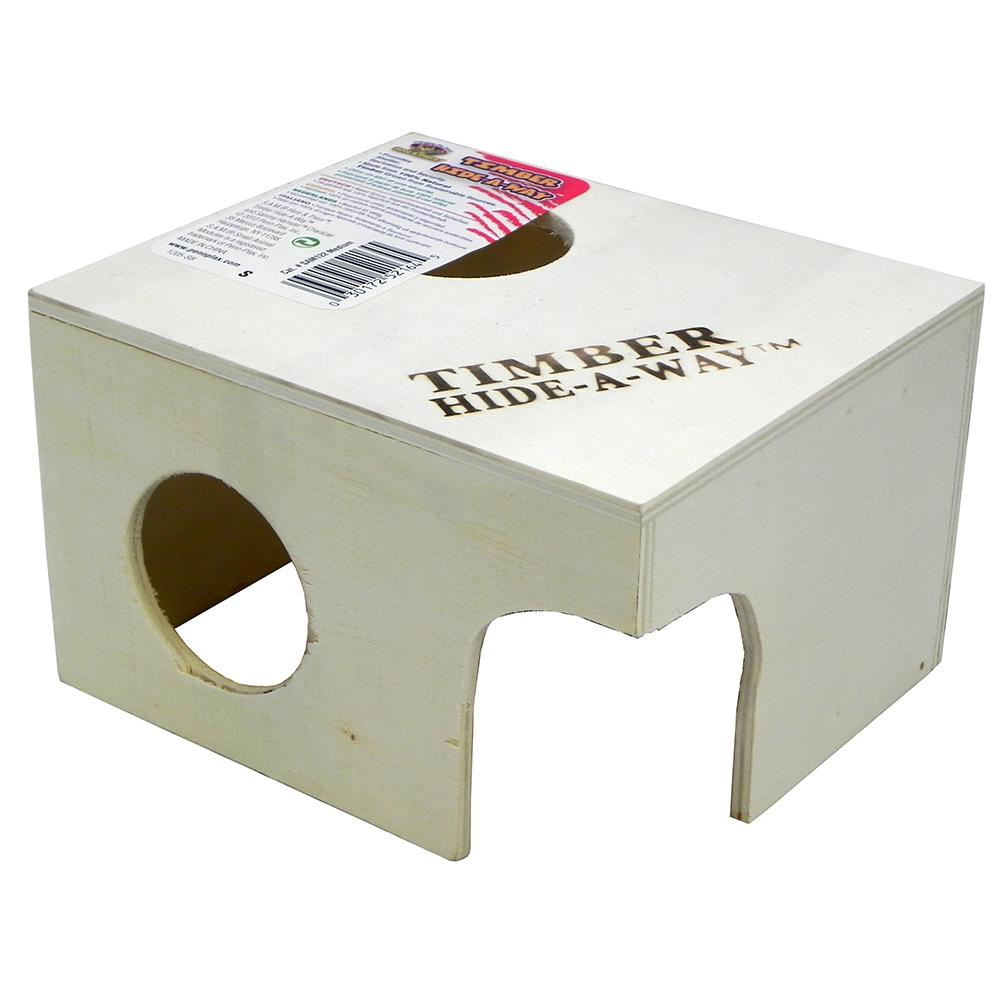 Penn Plax Small Animal Timber Hide-a-Way Medium