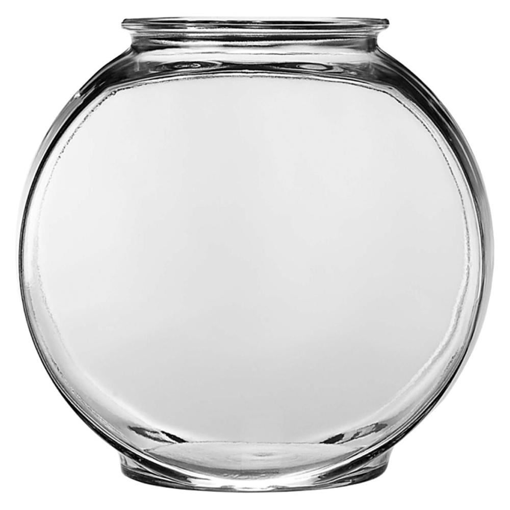 Anchor hocking glass fish bowl drum 2 gal aquaria stands for Glass fish bowls
