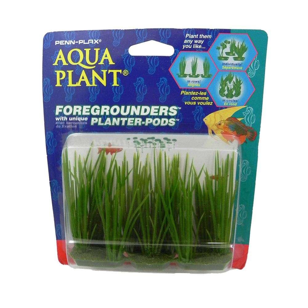 Hair Grass 6 Pod Plastic Aquarium Plant
