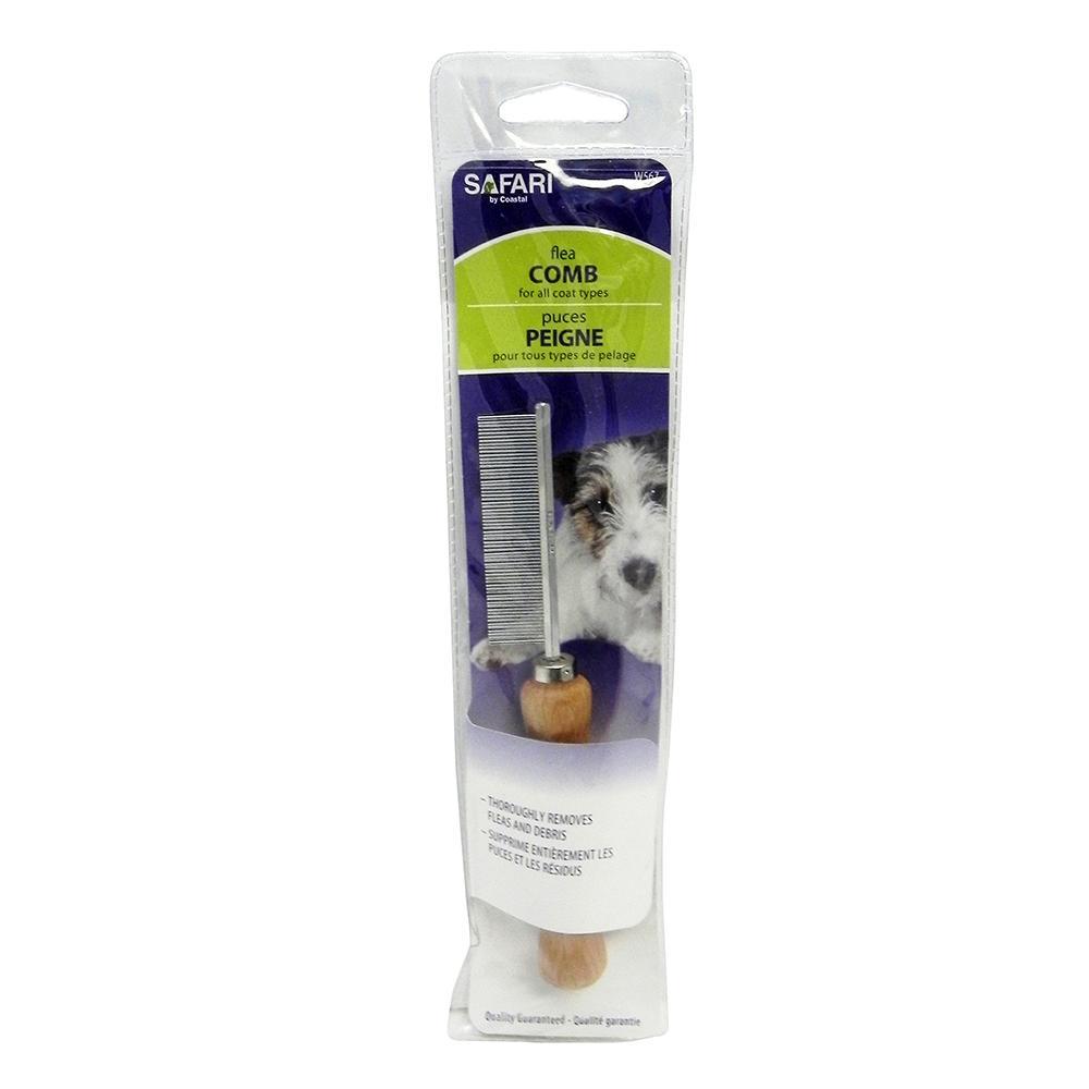 Pet Grooming Flea Comb Wood Handle