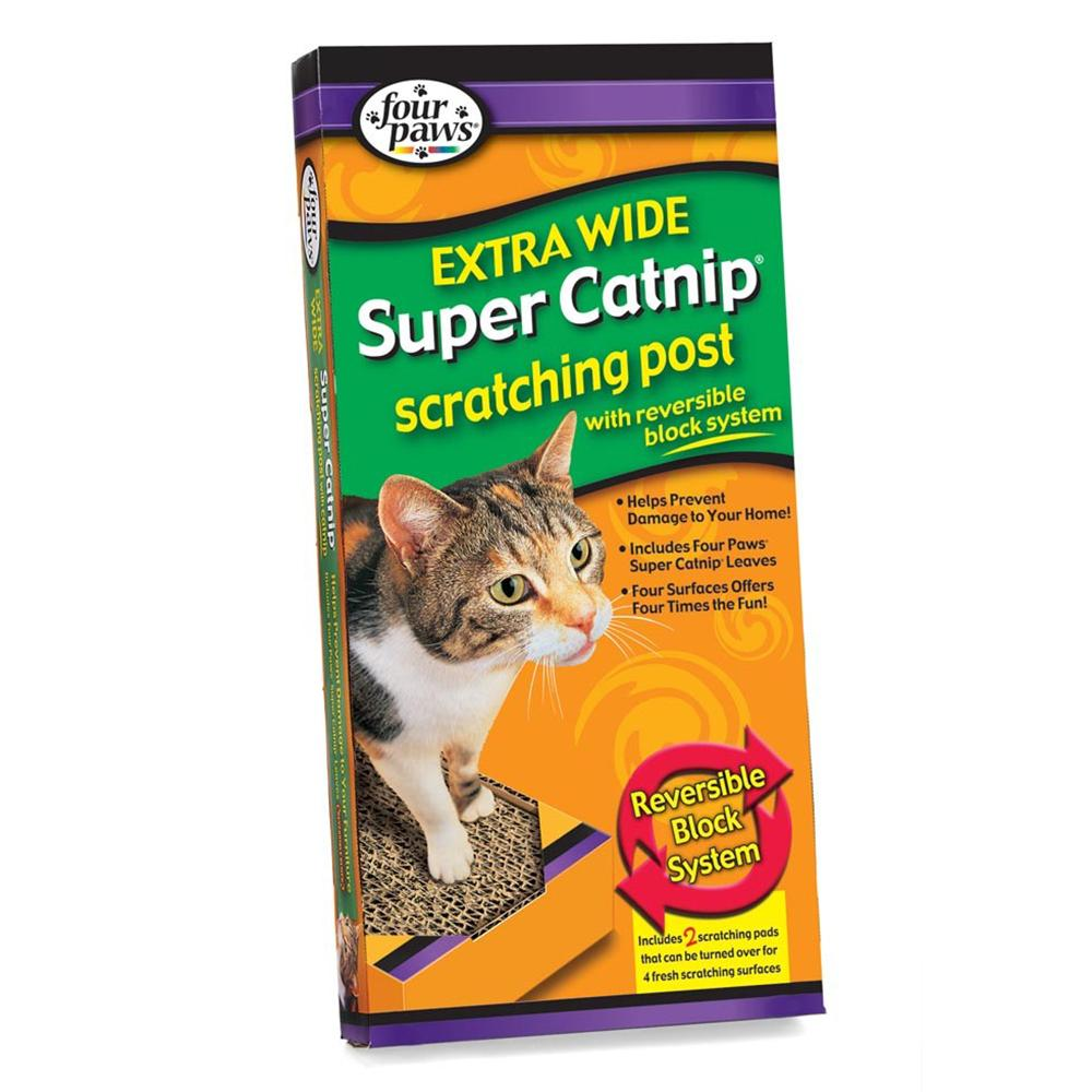 Cardboard Cat Scratching Post Double Wide
