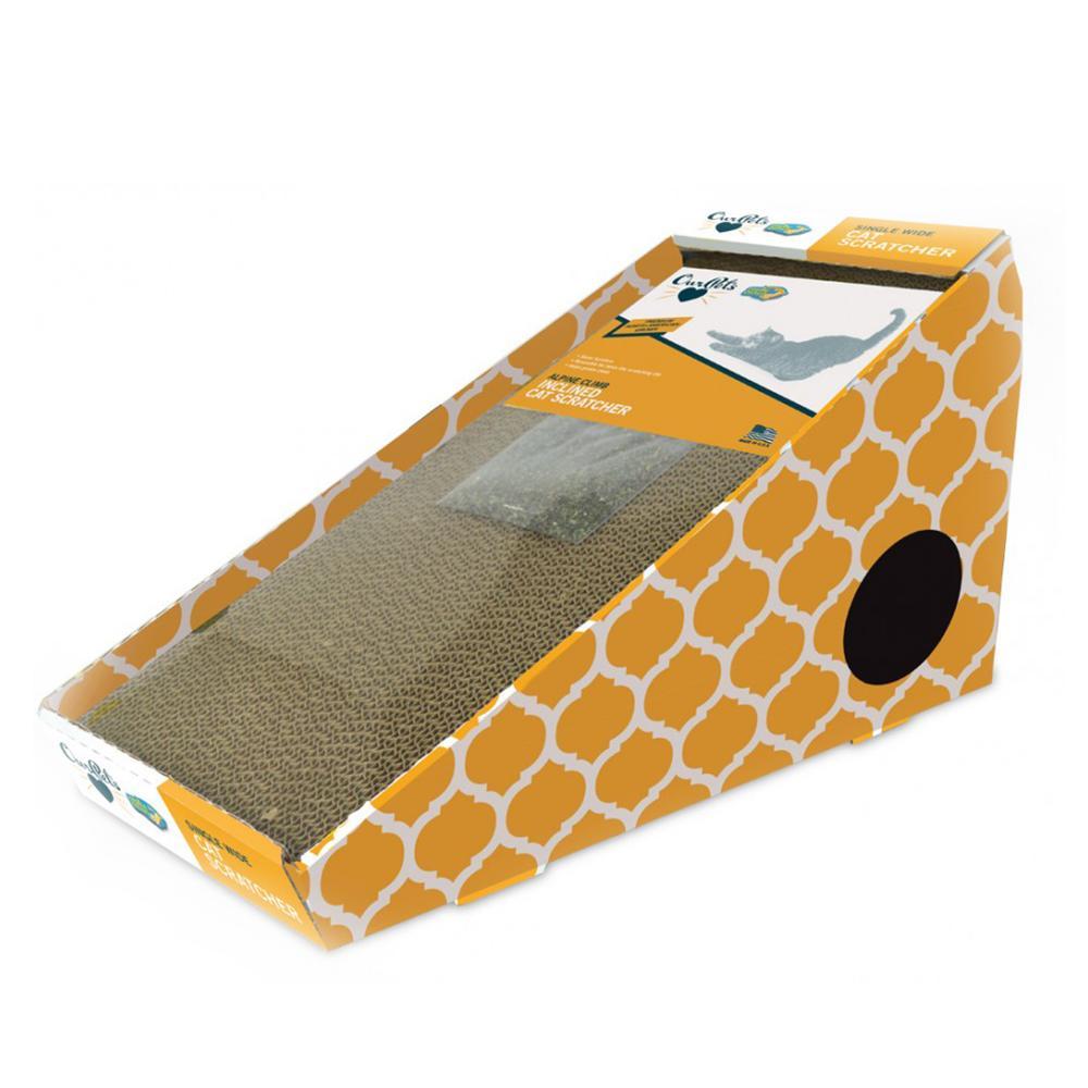 Cardboard Cat Scratching Post Alpine Inclined