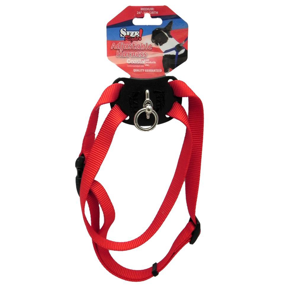 Nylon Dog Harness Size Right Medium Red