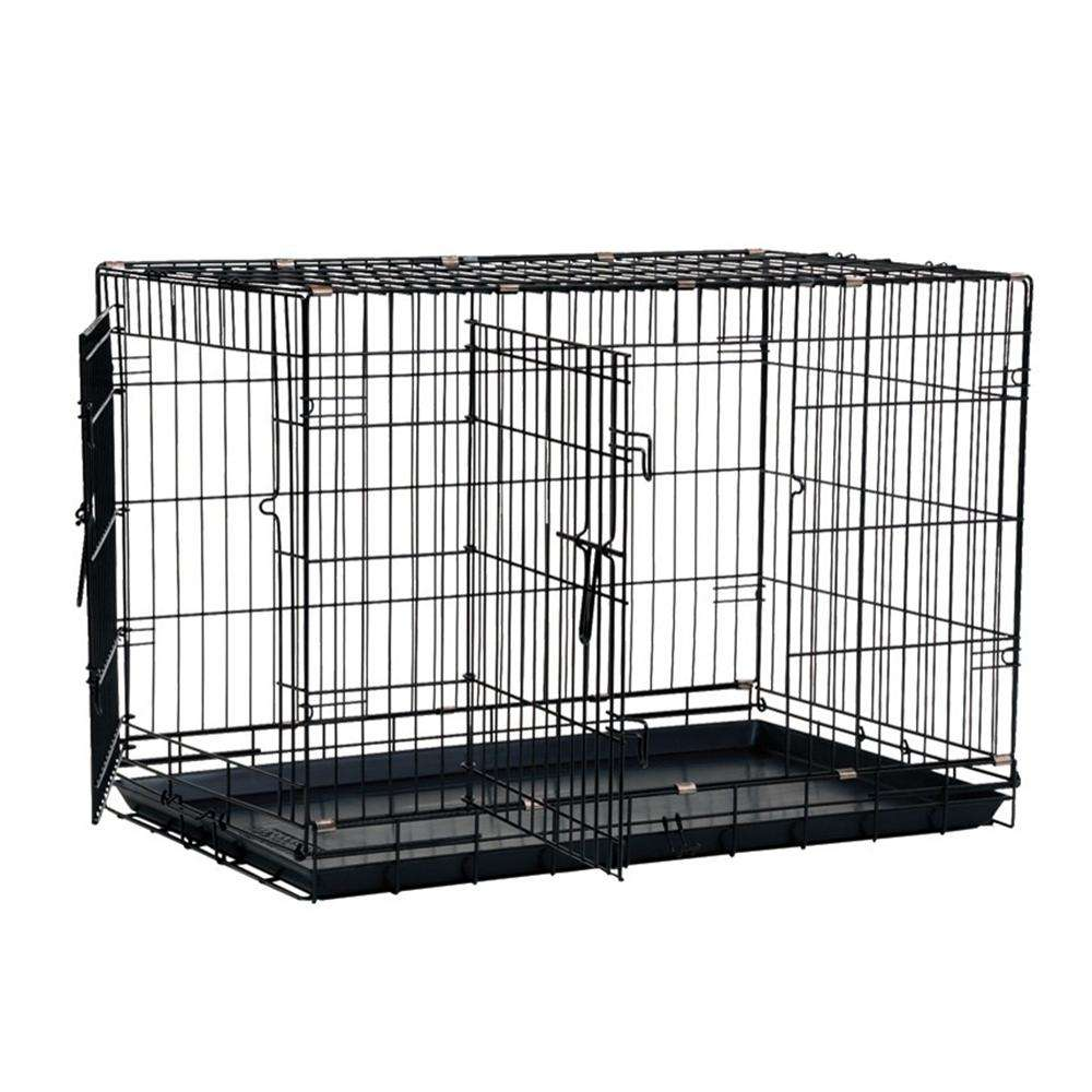 Wire Fold-Down Dog Crate 42x28x30