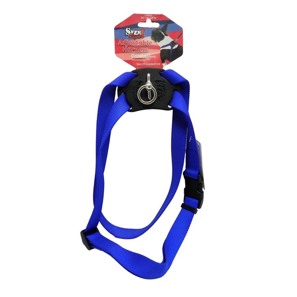 Nylon Dog Harness Size Right Large Blue