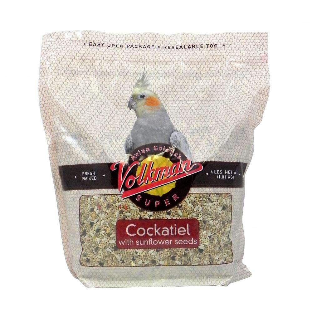 Avian Science Super Cockatiel W/Sun 4 pound Bird Seed