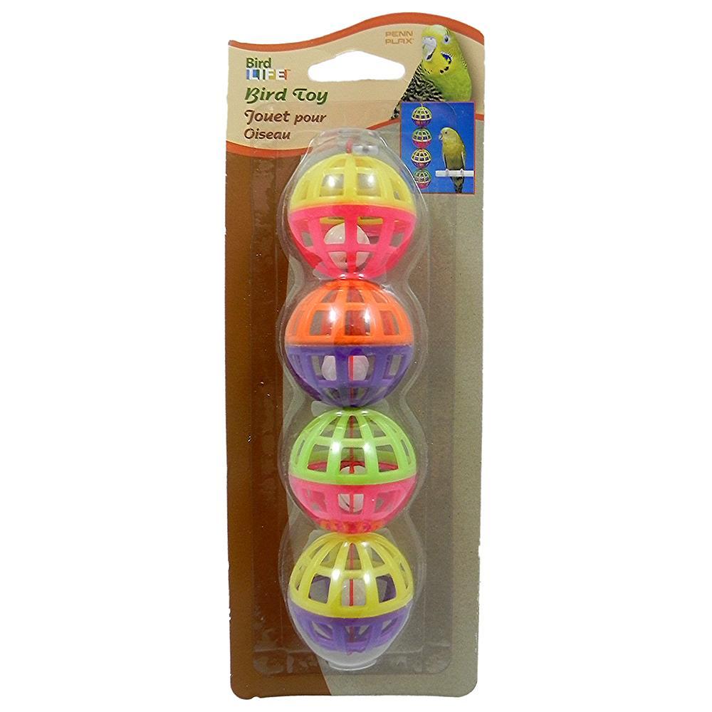 Penn Plax 4 Balls w/bells Bird Toy