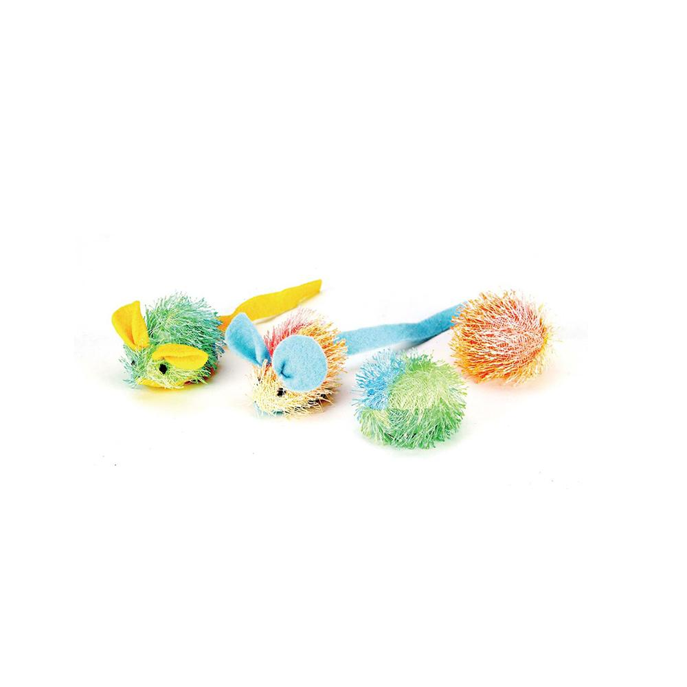 Spotnips Stringy Mice and Ball Cat Toy