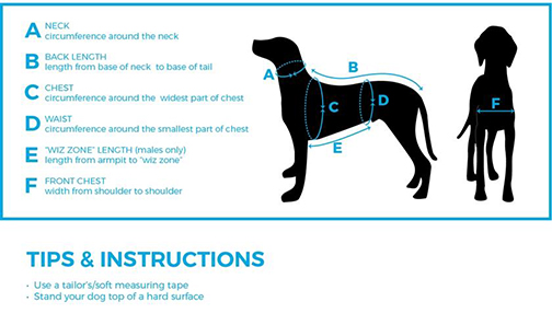 How to  measure guide for Cascade Dog Coats