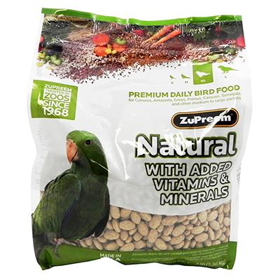 Zupreem Natural Blend Parrot/Conure Food 3 pound