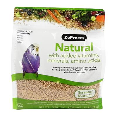 Zupreem Natural Blend Parakeet 2.25 pound Click for larger image