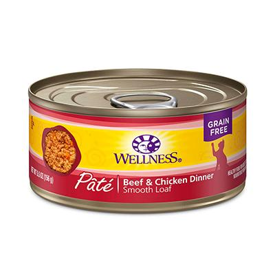 Wellness Beef and Chicken Canned Cat Food Case