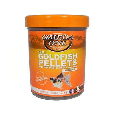 Omega One Small Sinking Goldfish Pellets Fish Food 4.2-oz Click for larger image