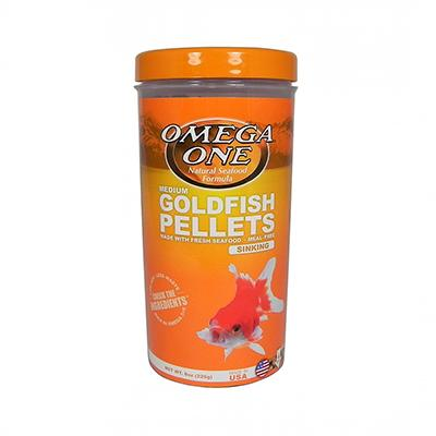 Omega One Medium Sinking Goldfish Pellets Fish Food 8-oz Click for larger image