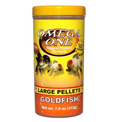 Omega One Large Sinking Goldfish Pellets Fish Food 7.5 ounce