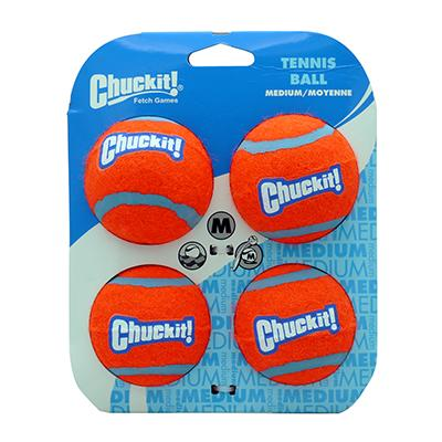 Chuckit Tennis Balls 4-pack Assorted from Canine Hardware