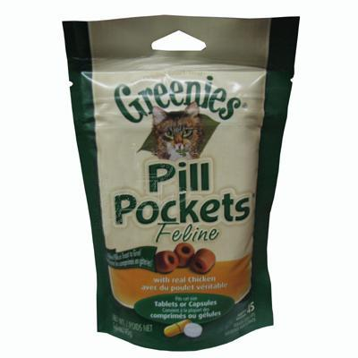 Pill Pockets Cat Chicken 45 Count Click for larger image