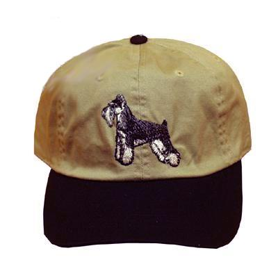Cap 100% Cotton with Embroidered Schnauzer