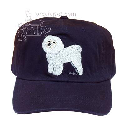 Cap 100% Cotton with Embroidered Bichon Frise