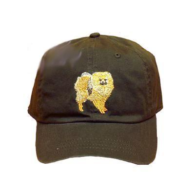 Cap 100% Cotton with Embroidered Pomeranian