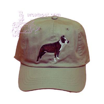Cap 100% Cotton with Embroidered Pit Bull Terrier