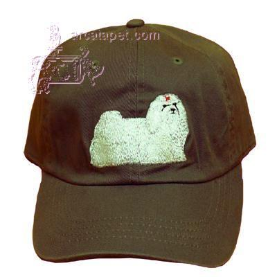 Cap 100% Cotton with Embroidered Maltese