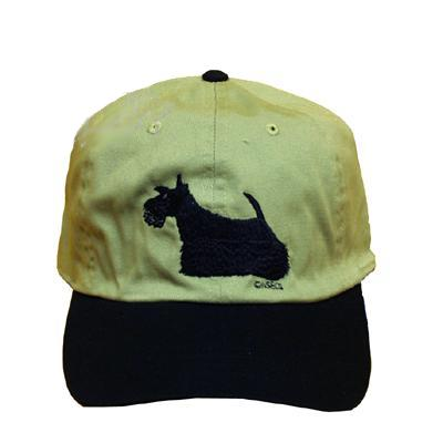 Cap 100% Cotton with Embroidered Scottish Terrier