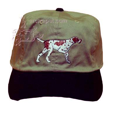 Cap 100% Cotton with Embroidered English Pointer