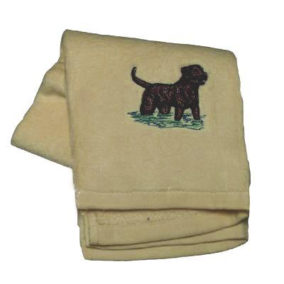 Cotton Terry Cloth Dog Hand Towel w/Embroidered Chesapeake