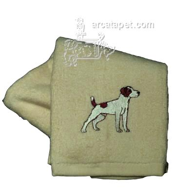 Cotton Terry Cloth Dog Hand Towel w/Embroidered Jack Russell