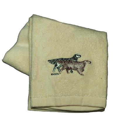 Cotton Terry Cloth Dog Hand Towel with English Setter