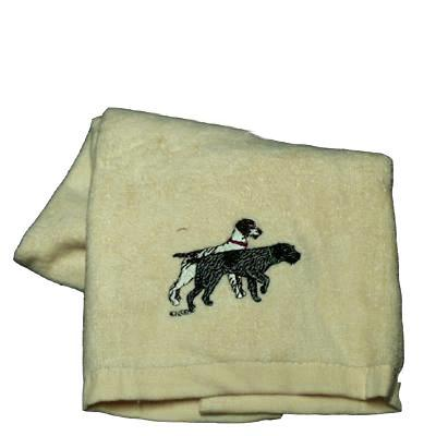 Cotton Terry Cloth Dog Hand Towel with German Wirehaired