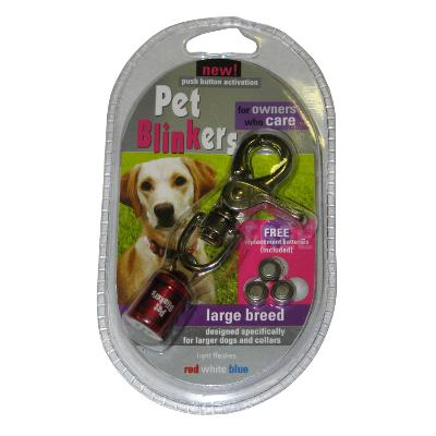 Pet Blinker Red White and Blue for Large Breeds