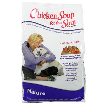 Chicken Soup for the Dog Lover's Soul Mature Dog Food 5 lb